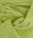 daisies n such boxwood chartreuse swirls organic cotton