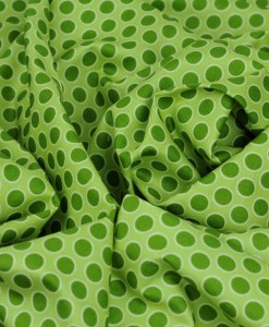 walkabout green spot cotton fabric makower