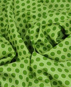 walkabout green spot cotton fabric makower