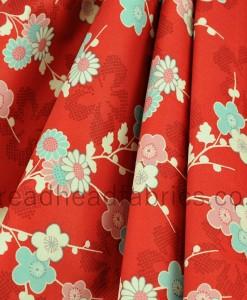 makower sakura blossom red folded