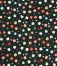 Makower Sakura Ditzy Floral Black
