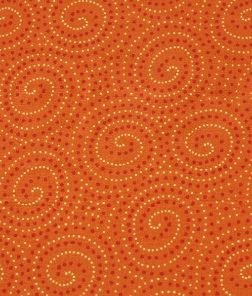 walkabout spirals in orange makower