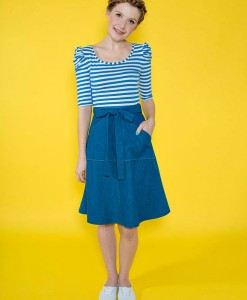 miette skirt denim tilly buttons