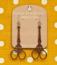 embroidery scissor earrings by Green Tree