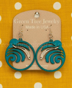 grunion run earrings by green tree