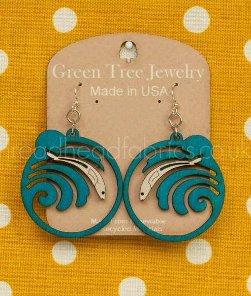 green tree jewlery grunion run earrings
