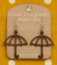 cinnamon umbrella earrings green tree