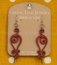 cherry red iron loop earrings