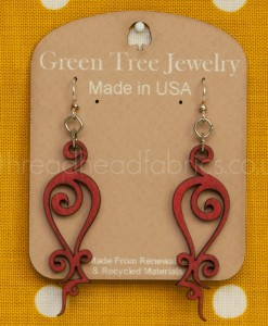 cherry red iron loop earrings