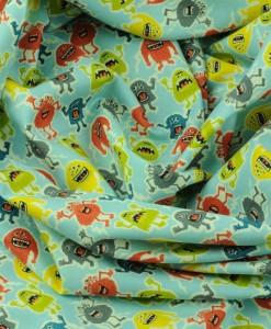 little monsters blue makower swirled