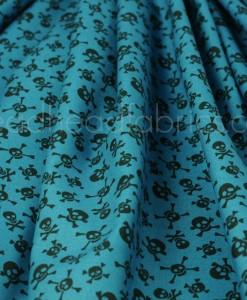 little monsters skulls blue folded