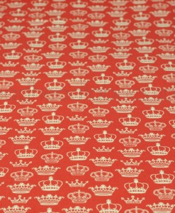 crowns on red by makower
