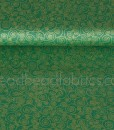 metallic scroll on green by makower