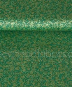 metallic scroll on green by makower