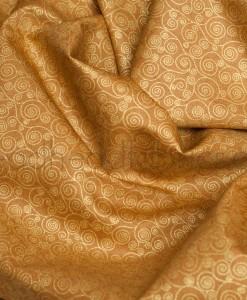 makower metallic scroll in gold swirled