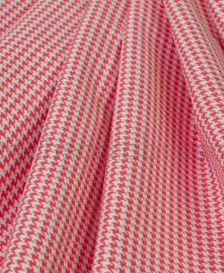 tiny houndstooth in paprika michael miller