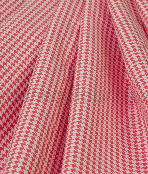 michael miller paprika tiny houndstooth folded
