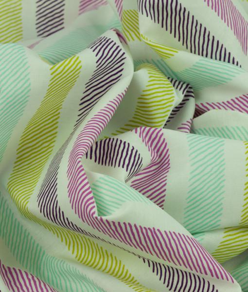 michael miller sketchy stripe violet  swirled