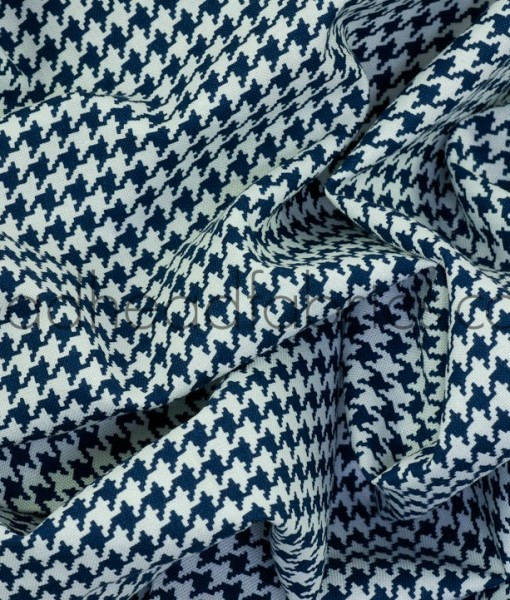 michael miller tiny houndstooth navy swirled