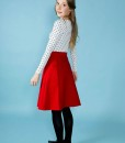 miette skirt in red backview