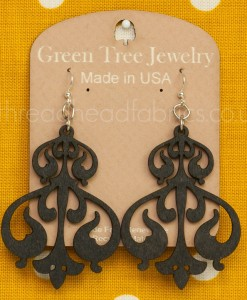 black satin rorschach ink earrings