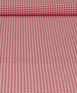 michael miller tiny houndstooth in paprika