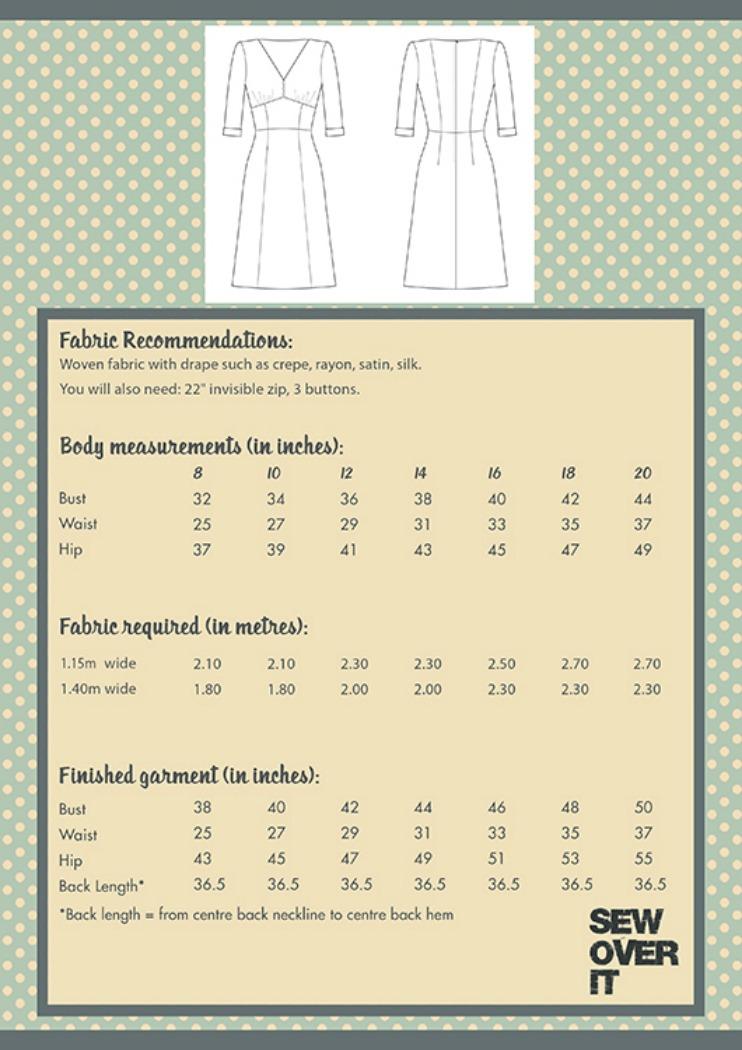 Sew Over It Fabulous 1940s Tea Dress Pattern Gorgeous