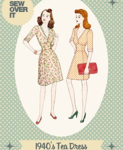 sew pver it 1940s tea dress