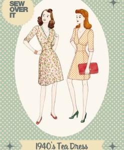 sew pver it 1940s tea dress