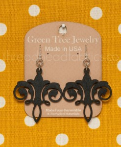 black chandelier earrings green tree jewelry