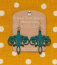 teal chandelier earrings green tree jewelry