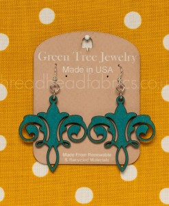 teal chandelier earrings green tree jewelry