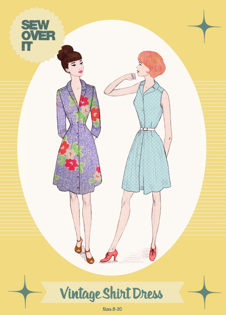Sew Over It Vintage Shirt Dress Pattern - Gorgeous Style!
