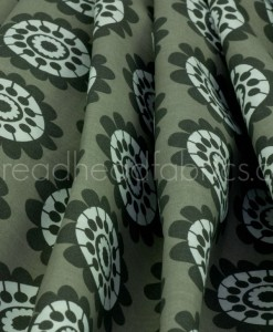 Gum Flower organic cotton fabric