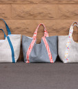 poolside tote bag trio