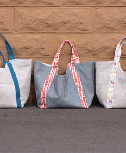 noodlehead patterns poolside tote trio