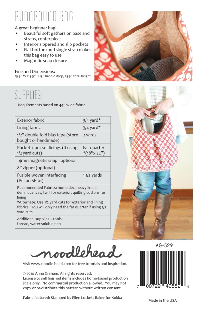ce67a21274c5 Runaround Tote Bag Pattern by Noodlehead - So Gorgeous!