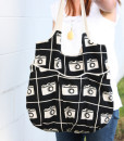 black and white go anywhere tote