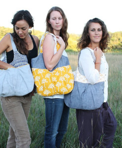 trio of noodlehead go anywhere totes