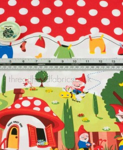 gnomeville fabric in detail