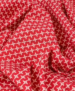swirled ninja star red fabric