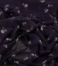 poly floral chiffon thread head fabrics