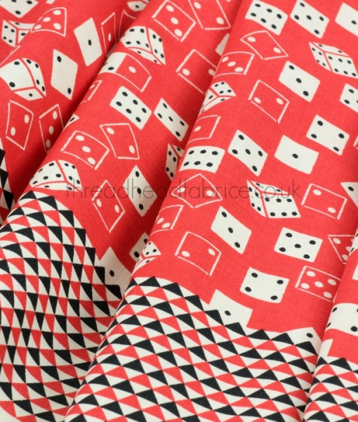 Cherry Roll the Dice Quilting Fabric