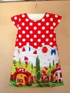 Gnomeville Dress With Michael Miller Fabrics