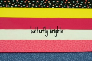 butterfly brights fabric bundle