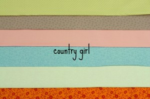 country girl fabric bundle