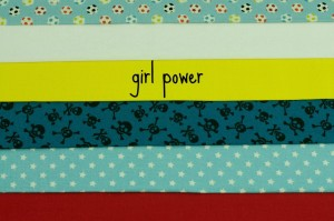 girl power fabric bundle