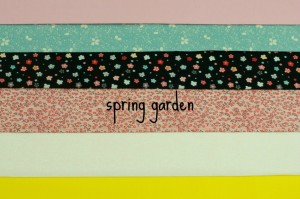 spring garden fabric bundle