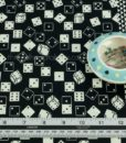 Roll the Dice Quilting Fabric Black