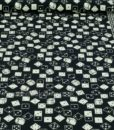 Black Roll the Dice Quilting Fabric